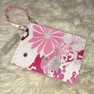 NWT Chico's floral mulit colored wristlet clutch
